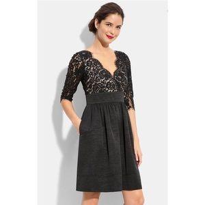 Eliza J Black Lace Fit & Flare Dress Size 16